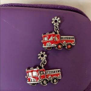 """From a Vintage Charm Bracelet Fire engines 3/4"""""""